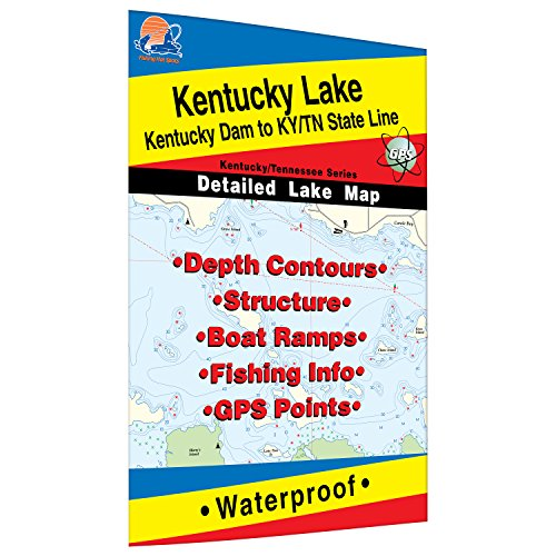 Kentucky Lake-North (Kentucky Dam to KY/TN Line) Fishing Map