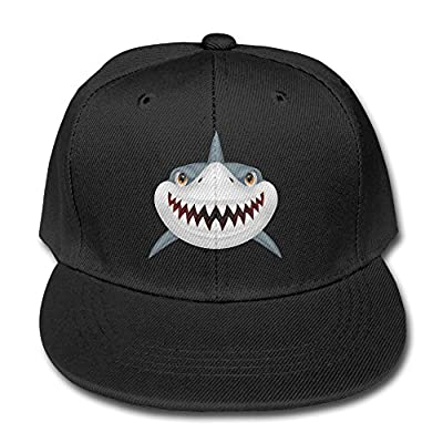 HDRAY Children Scary Shark Fierce Unisex Plain Snapback Hip-Hop Cap Adjustable One Size