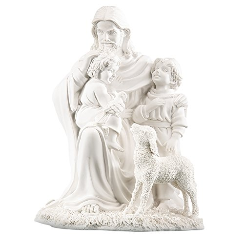 (Elysian Gift Shop Jesus Christ with Children Pearl White Tabletop 8
