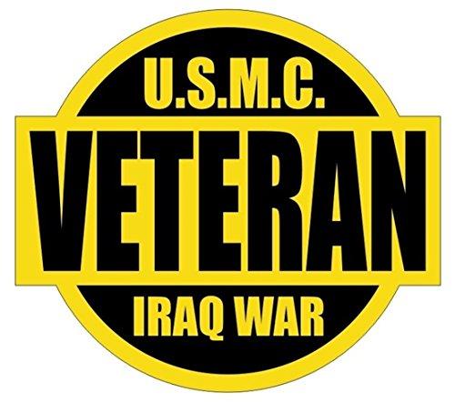 1-Pc Peerless Popular U.S.M.C. Iraq War Veteran Car Stickers Signs Self-Adhesive Hard Hat Decal Kit On Board Size 2