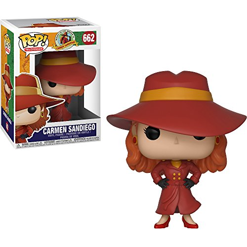 Funko Carmen Sandiego: Where in the world is Carmen Sandiego? x POP! TV Vinyl Figure + 1 American TV Themed Trading Card Bundle [#662 / 32039]