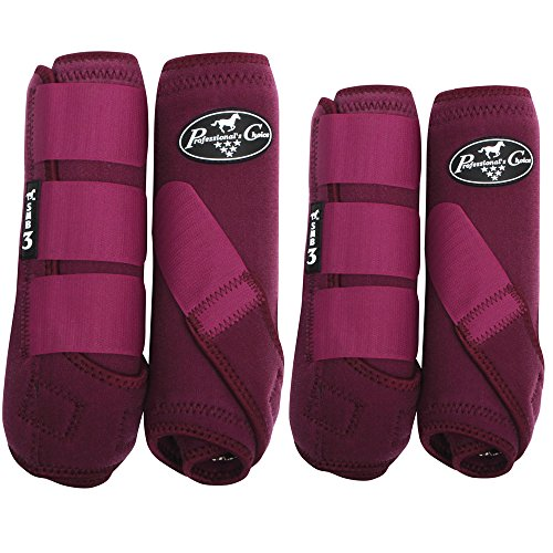 Ventech Boots - Professional's Choice Pro Choice SMB3 Value 4-PK Boots Medium Wine