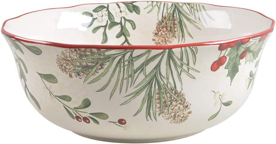 Better Homes and Garden Winter Forest Round Serving Bowl