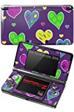 Nintendo 3DS Decal Style Skin - Crazy Hearts