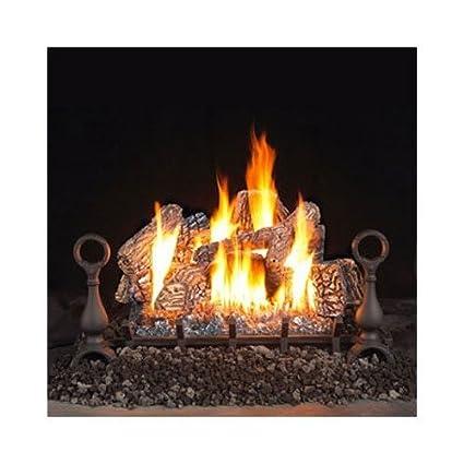 amazon com vent free fireplace gas log sets size 30 fuel type rh amazon com ventless gas fireplace logs smell ventless gas fireplace logs menards