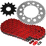Caltric Red O-Ring Drive Chain & Sprockets Kit Fits KAWAS...