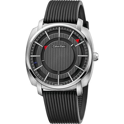 Calvin Klein Reloj Digital para Hombre de Cuarzo con Correa en Caucho K5M3X1D1