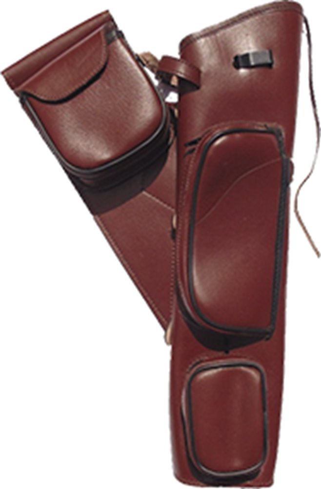 Newton Archery Traditional Leather Hip Quiver Brown 21''