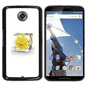 ROKK CASES / Motorola NEXUS 6 / X / Moto X Pro / LEMON ICE CUBE / Delgado Negro Plástico caso cubierta Shell Armor Funda Case Cover