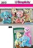 Simplicity 2613 Cute Stuffed Animal Sewing Pattern