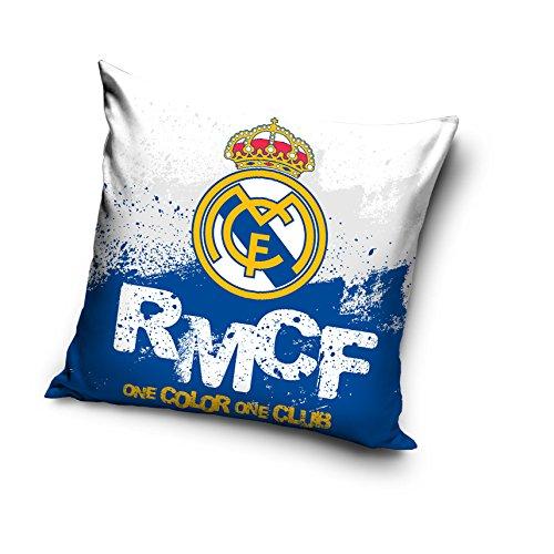 Real Madrid Cojín, Microfibra, Blanco, 40x40x15 cm: Amazon ...