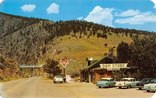 Loveland Colorado Dam Store Street View Vintage Postcard - Stores Loveland