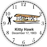 Wright Brothers at Kitty Hawk Wall Clock by WatchBuddy Timepieces (White Frame)