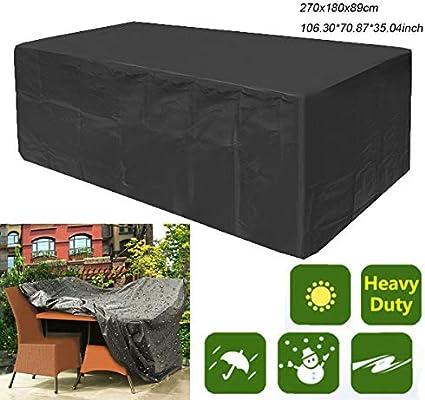 dDanke 210D - Funda para Muebles de jardín, Color Negro ...
