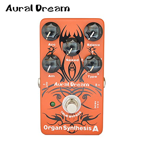 KuWFi Aural Dream guitar synthesizer pedal Organ Synthesis A Guitar Effects Pedal Rock Bluse Reggae Rockband organ Rotary Horn similar B3 True Bypass