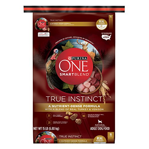 Purina ONE High Protein Natural Dry Dog Food; SmartBlend True Instinct With Real Turkey & Venison - 15 lb. Bag