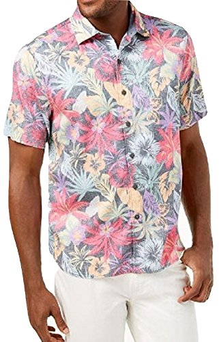 Tommy Bahama Fuego Flora Camp Shirt (Color: Black, Size XXL)