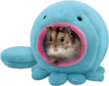 Fliyeong Hamster Hut Hamster Bett Warme Betten Fur Kleintiere In Krakenform Weich Und Warm 10x10cm Blau Langlebig Und Nutzlich Amazon De Kuche Haushalt