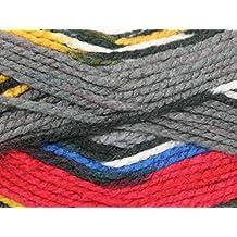 King Cole Big Value Multi Knitting Yarn Chunky 1003 Fireside - per 100 gram ball