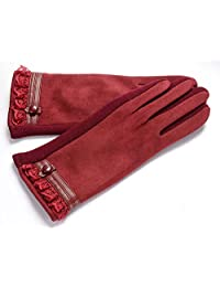 Female Models Autumn And Winter Warm Gloves Touch Screen Suede,2