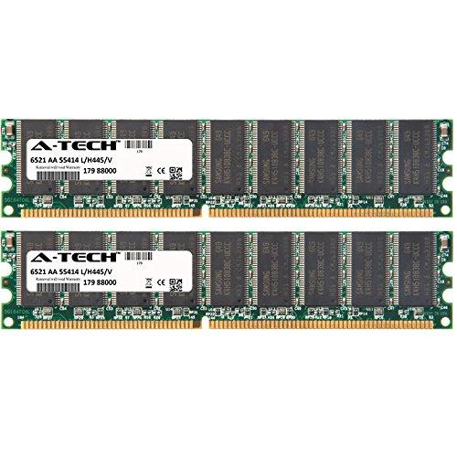2GB KIT (2 x 1GB) for Dell PowerEdge Series 400SC 700 750. DIMM DDR ECC Unbuffered PC3200 400MHz Single Rank RAM Memory. Genuine A-Tech Brand.
