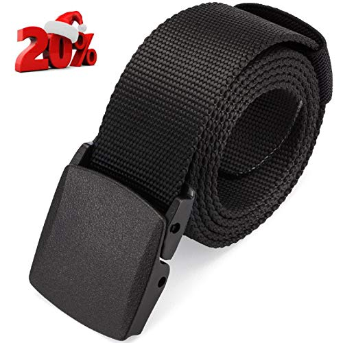 DRAGON NINJA Nylon Web Belt with Premium Tactical Canvas Military Waterproof Webbing -