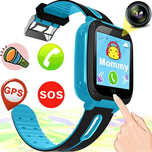 Kid Smart Watch Phone with GPS Tracker for Boy Girl Game Watch with SOS Anti-lost Camera Electronic Learning Wrist Cellphone Watch Bracelet for Sport Outdoor iOS Android Travel Back to School Office
