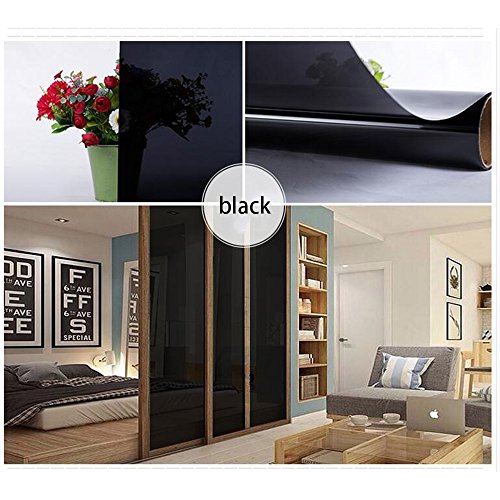 HOHO Black Tint Decorative Window Glass Privacy Film Sticker for Home Bedroom Bathroom Office,60''x98ft Roll by HOHO