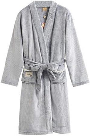 Albornoz Nan Liang para Hombre 100% algodón Toalla de baño Bata de baño Batas Wrap Ropa de Dormir Gran tamaño otoño Invierno Largo Cómodo (Color : Mens Models, Tamaño : XXL): Amazon.es: Hogar