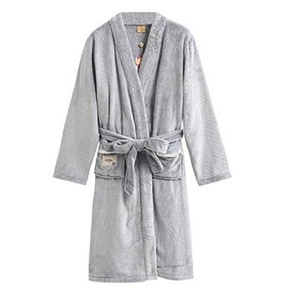 Albornoz Nan Liang para Hombre de Lujo 100% algodón Toalla de baño Bata de baño