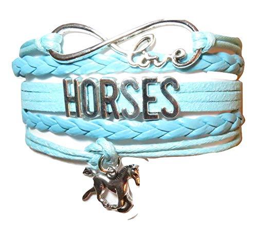 (Elecro Buy Online Horses Leather Bracelet Lovers for Mom,Girls,Boys, Men,Women & Kids,Gifts Wrapped Friendship Luxury Charm Infinity Love Sports Bracelet)