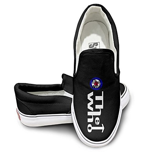 HYRONE The Who Band Logo Design Sport Shoes Dancing Black