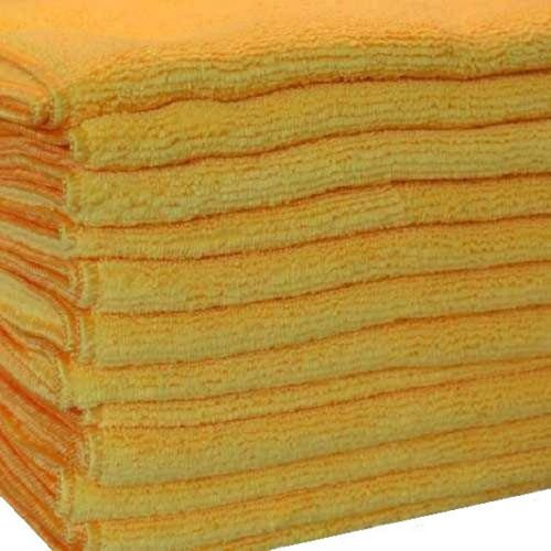 GHP Pack of 120 Gold Microfiber 16x16 Professional Grade Bulk Cloths by Globe House Products