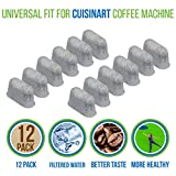 Cuisinart Coffee Maker Filter PURE GREEN 12-Pack of Cuisinart Compatible Replacement Charcoal Water Filters for Coffee Makers - Fits all Cuisinart Coffee Makers