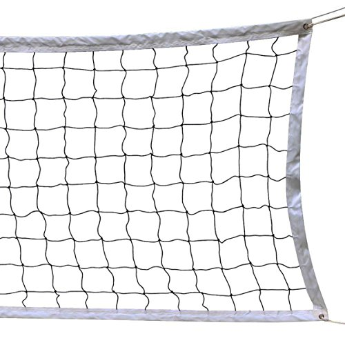 NKTM Outdoor Sports Classic Volleyball Net for Garden Schoolyard Backyard Beach (32 Feet x 3 Feet) Poles Not - Classic Hanging Net