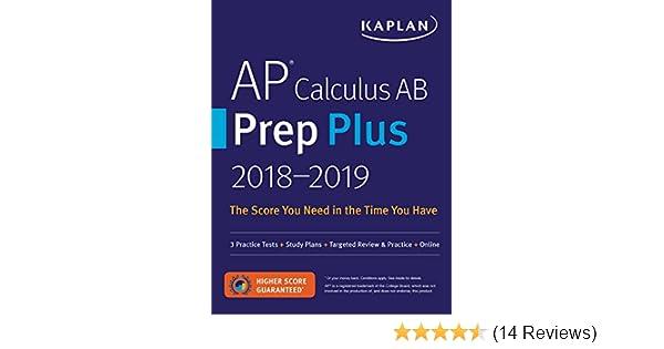 AP Calculus AB Prep Plus 2018 2019 3 Practice