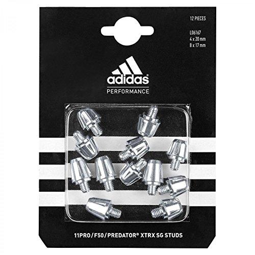 adidas TRX 2.0 SG Studs Stollen Silber WHITE/BLACK/BLACK