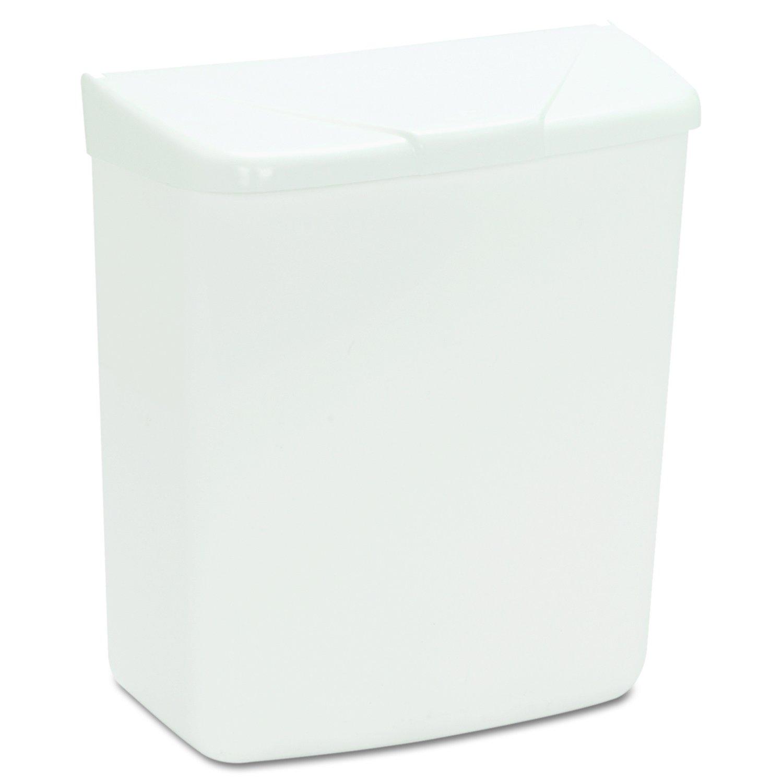 Hospeco Feminine Hygiene Receptacle, White ABS Plastic, 250-201W by Hospeco (Image #3)