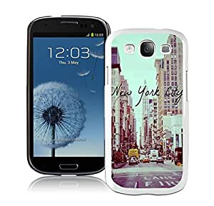Element Samsung Galaxy S3 White Case I9300 Durable Soft Silicone TPU Vintage New York City Urban Cell Phone Case Cover