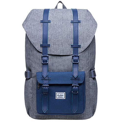 (KAUKKO Laptop Outdoor Backpack, Travel Hiking& Camping Rucksack Pack, Casual Large College School Daypack, Shoulder Book Bags Back Fits 15