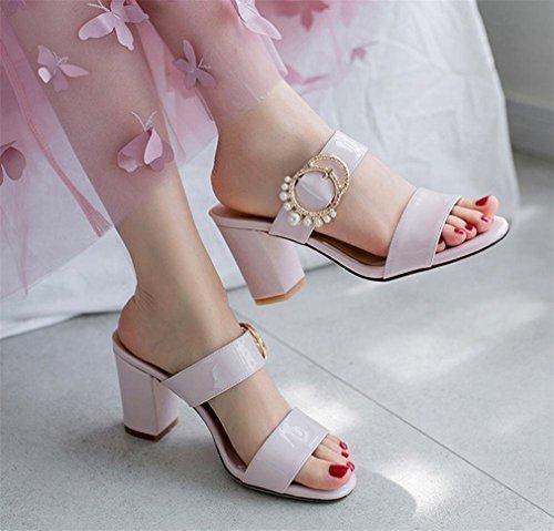 YE sulla Aperte Caviglia rosa Donna qFFC16wX