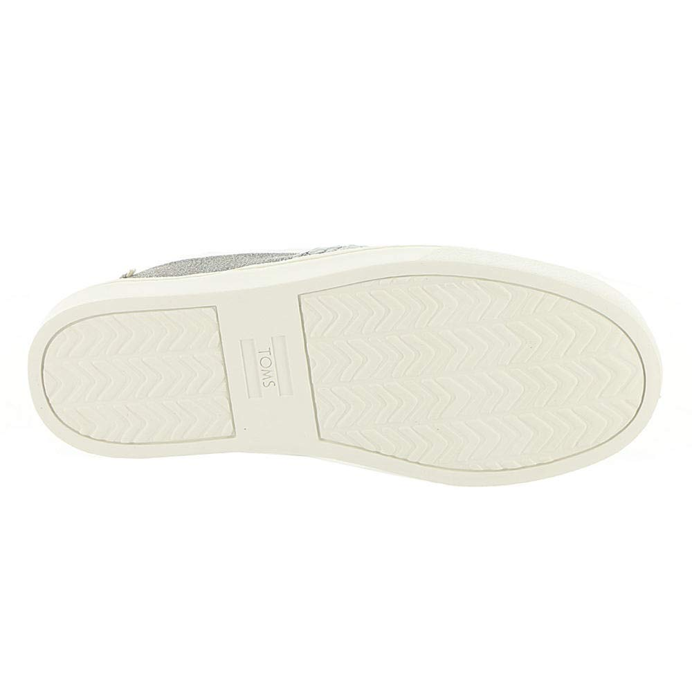 TOMS Neutral Grey Cheetah Embroidery Twill Glimmer Youth Luca Slip-Ons Shoes (12 M Little Kid) by TOMS Kids (Image #3)