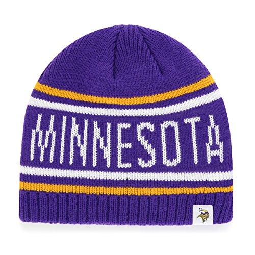 - NFL Minnesota Vikings Men's Thorsby OTS Beanie Knit Cap, Team Color, One Size