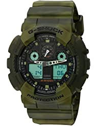 Casio G-Shock Black Dial Resin Quartz Mens Watch GA100MM-3A