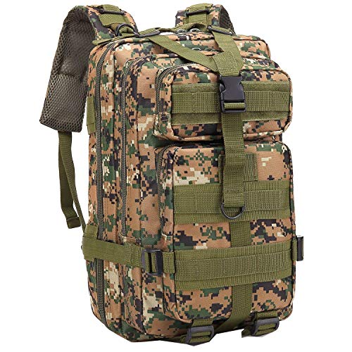 ALTBP Hiking Backpack Military Tactical Backpack Army Molle Backpack,Internal Frame Backpack Outdoor Backpack for Picnicing Hiking Camping Trekking Traveling (Jungle-Digital-H(25L))