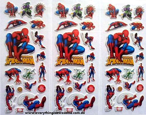 Spiderman Sticker Pod 50 Puffy Stickers Boys Girls Superhero Art Kids