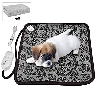 """Pet heating pad ,Newroad waterproof warming mat with blanket ,chew resistant for dogs and cats ,Overheat Protection 17.7""""x17.7"""""""