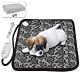 pet electric heating pad - Pet Heating Pad for New Born Puppies and Kitty or Pregnant Pets,Newroad Waterproof Warming Mat with Blanket ,Chew Resistant for Dogs and Cats ,Overheat Protection 17.7