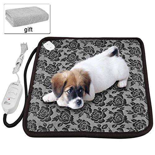 Pet heating pad ,Newroad waterproof warming mat with blanket ,chew resistant for dogs and cats ,Overheat Protection 17.7