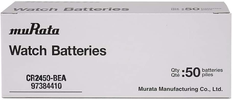 Murata CR2450 Battery 3V Lithium Coin Cell 10 Batteries Replaces Sony CR2450